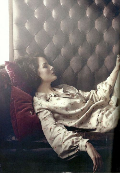Pyjama Michelle Dockery Harpers Bazaar UK